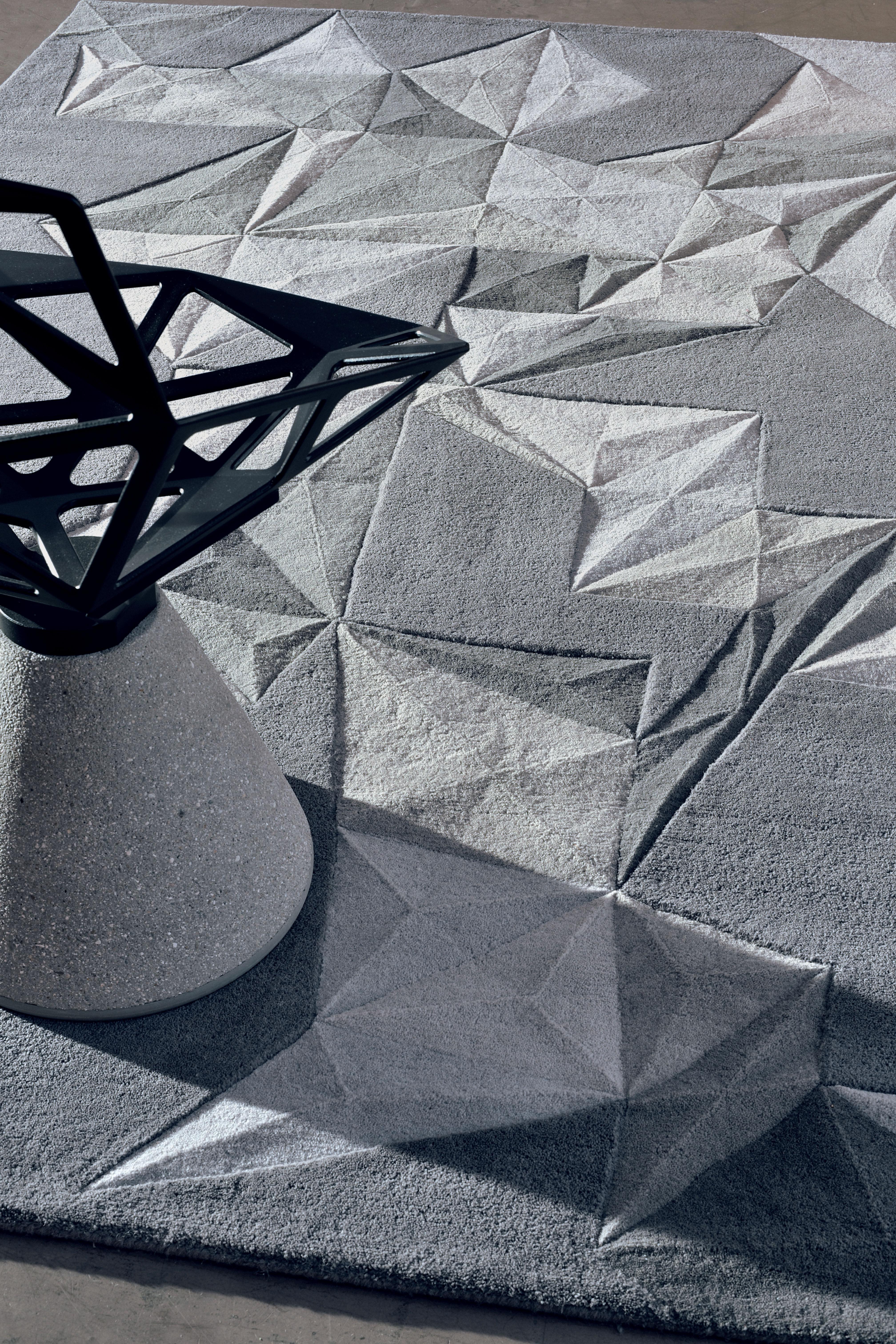 Tapis pliages toulemonde bochart gris made in design - Tapis toulemonde bochart soldes ...