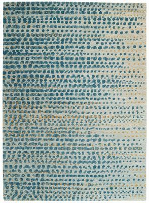 Interni - Tappeti - Tappeto Brume / 170 x 240 cm - Toulemonde Bochart - Grigio blu - Lana, Seta vegetale