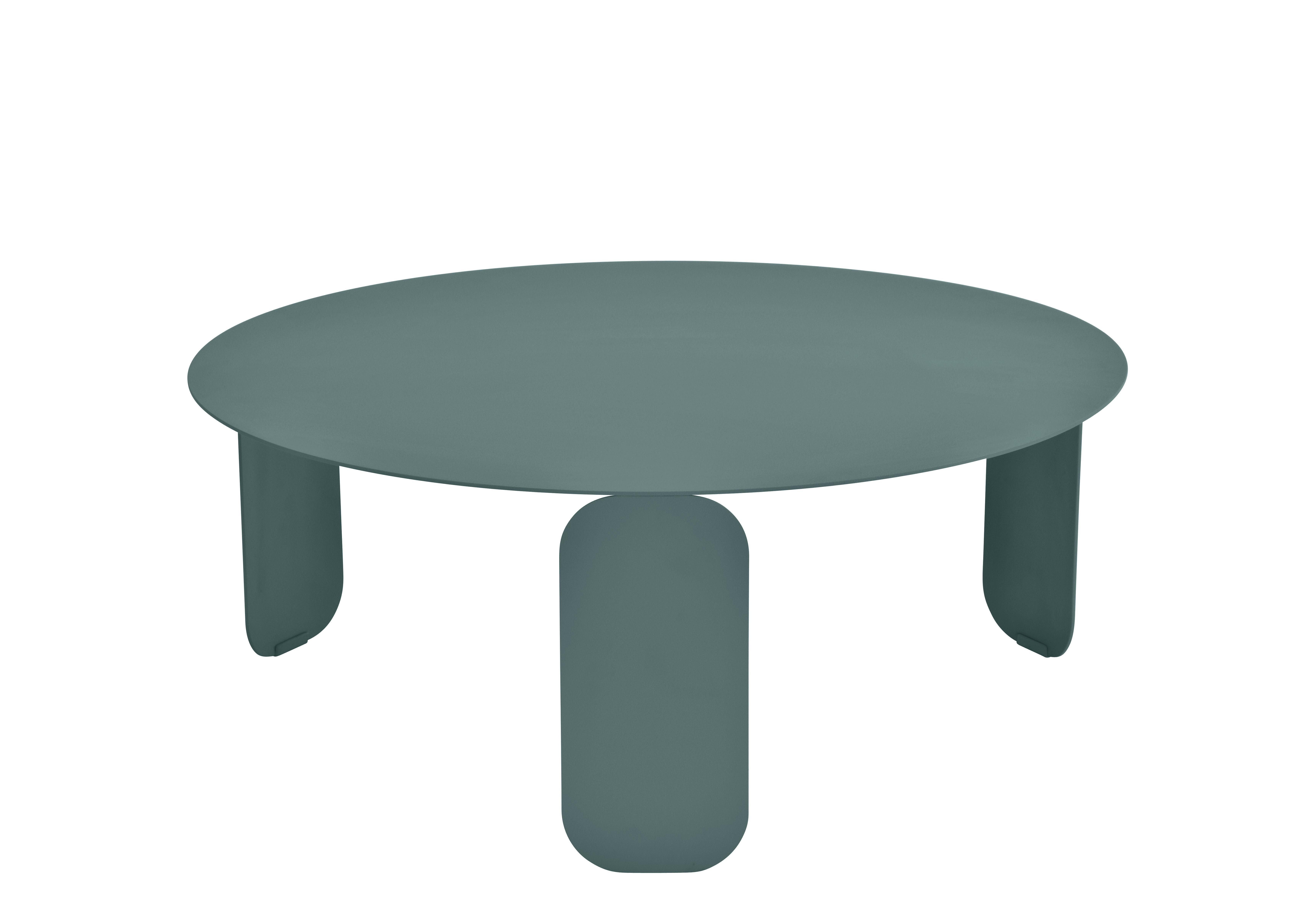 Arredamento - Tavolini  - Tavolino Bebop - / Ø 80 cm di Fermob - Grigio temporale - Acciaio, Alluminio