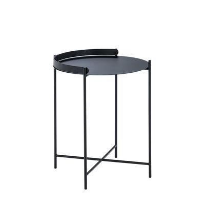 Image of Tavolino d'appoggio Edge - / Maniglia pieghevole Tavolo -Ø 46 x H 53 cm di Houe - Nero - Metallo