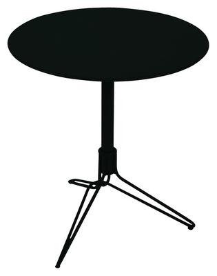Outdoor - Tavoli  - Tavolo rotondo Flower di Fermob - Liquerizia - Acciaio