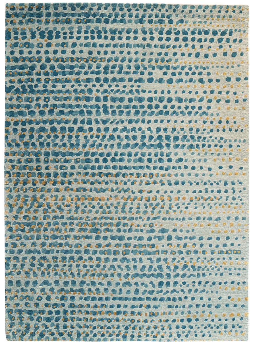 Dekoration - Teppiche - Brume Teppich / 170 x 240 cm - Toulemonde Bochart - Grau-blau - Soie végétale, Wolle