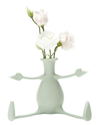 Vase Florino / Silicone - Bras et jambes flexibles - Pa Design vert clair en matière plastique