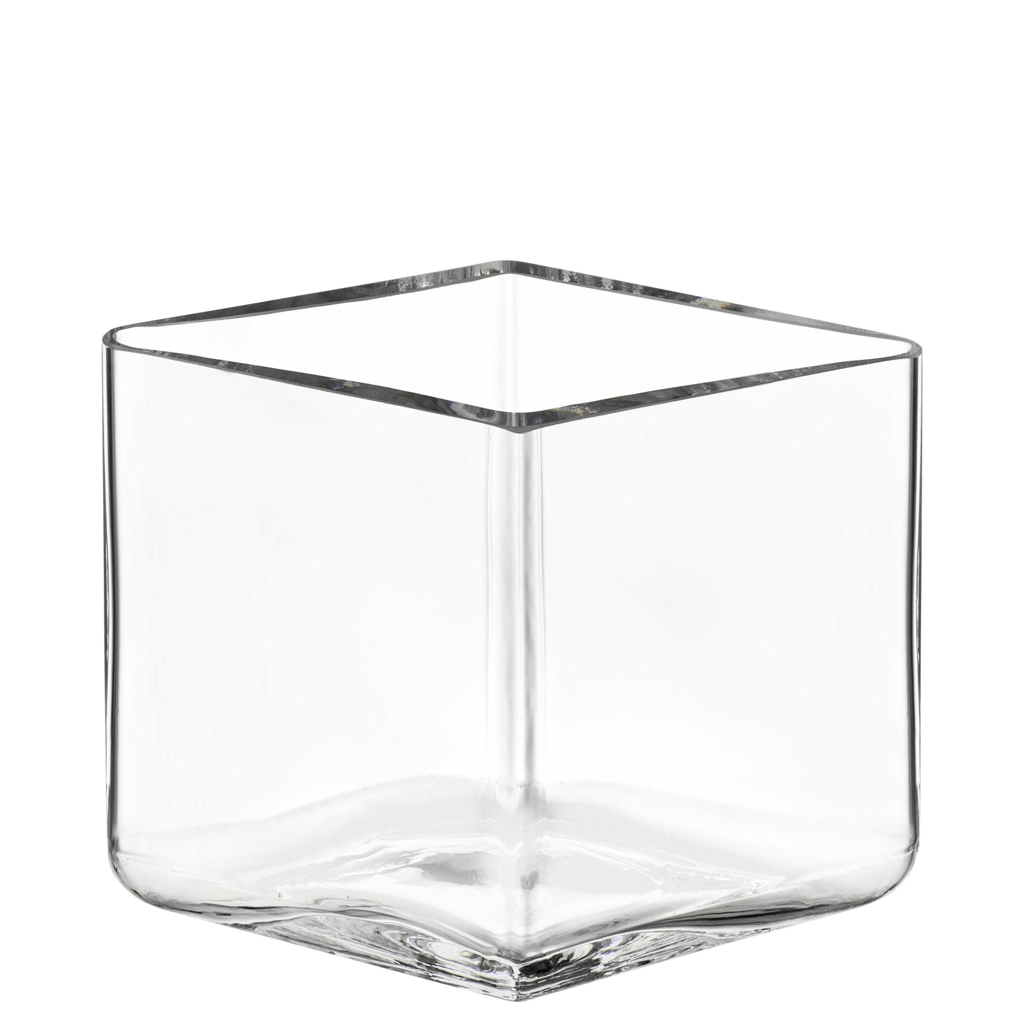 Déco - Vases - Vase Ruutu par R. & E. Bouroullec / L 11,5 x H 8 cm - Iittala - Cristal - Verre soufflé bouche