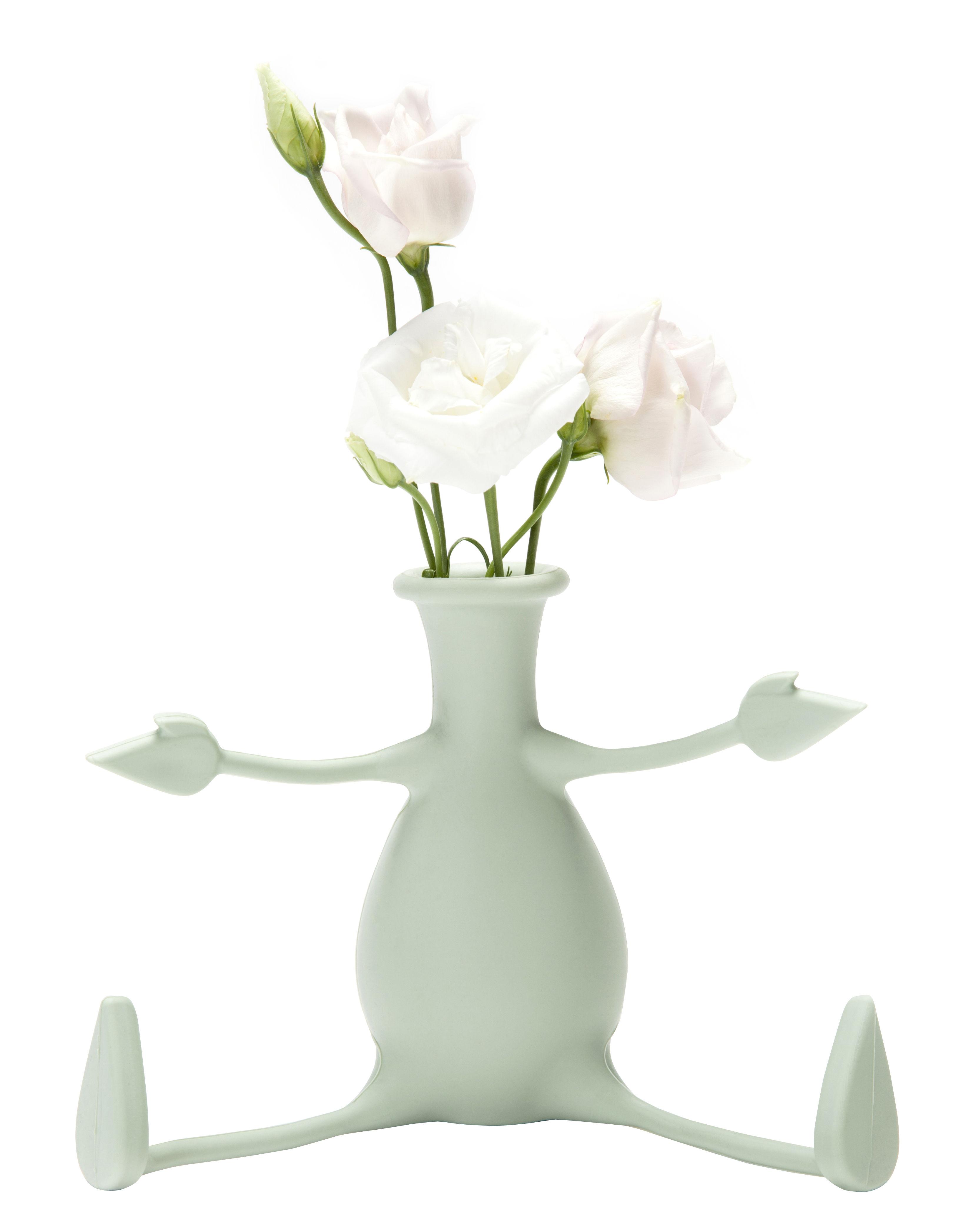Interni - Vasi - Vaso Florino - / Silicone - Braccia e gambe flessibili di Pa Design - Verde chiaro - Silicone