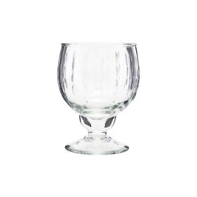 Verre à vin blanc Vintage / Verre ciselé - House Doctor transparent en verre