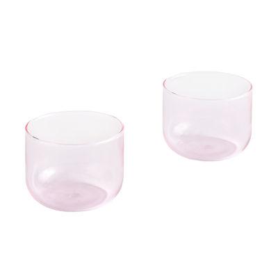 Arts de la table - Verres  - Verre Tint Small / Set de 2 - H 5,5 cm / 200 ml - Hay - Rose - Verre borosilicaté