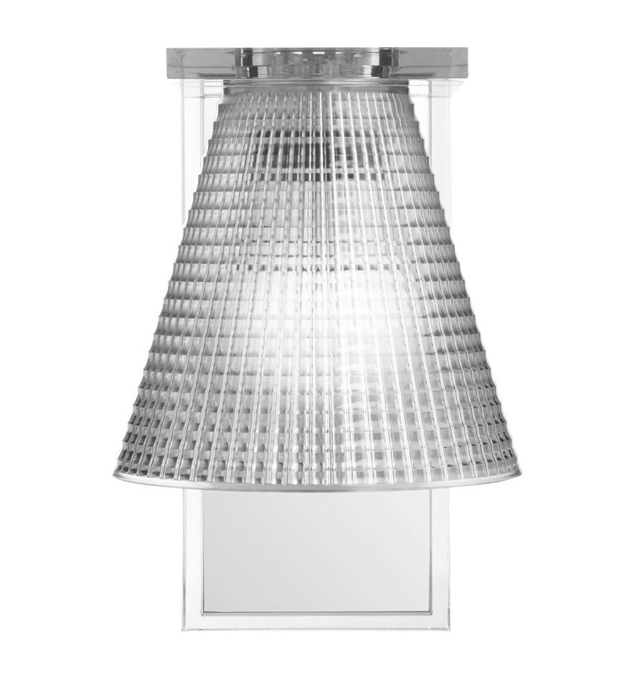 Lighting - Wall Lights - Light Air Wall light - Plastic shade by Kartell - Cristal - Thermoplastic technopolymer