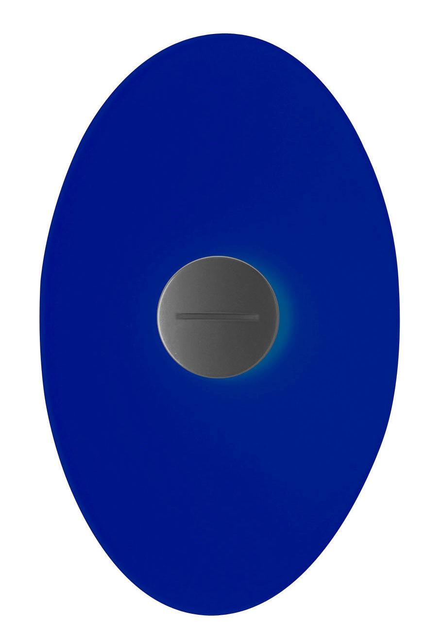 Lighting - Wall Lights - Bit 2 Wall light with plug by Foscarini - Blue - Glass, Metal