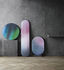 Ovale Wall mirror - / Printed reflective glass - h 84 cm by Fritz Hansen