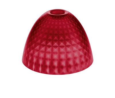 Abat-jour Stella Small / Ø 25,5 cm - Koziol rouge transparent en matière plastique