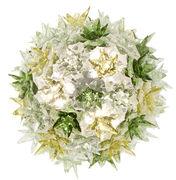 Applique Bloom / Plafonier - Ø 28 cm - Kartell vert en matière plastique