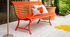 Louisiane Bench with backrest - / L 200 cm - Metal by Fermob