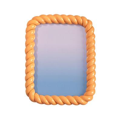 Cadre-photo Braid / Rectangle - Polyrésine / 21.5 x 16.5 cm - & klevering orange en matière plastique