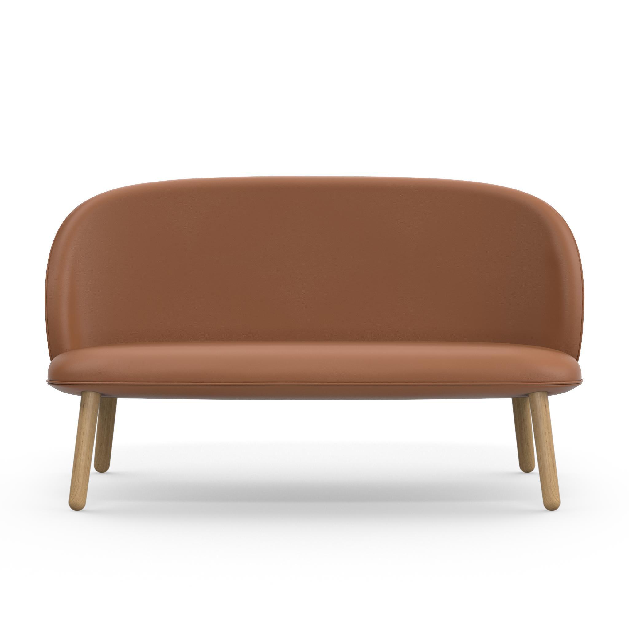 Canap droit ace 2 places l 145 cm cuir bois cuir - Canape made in design ...