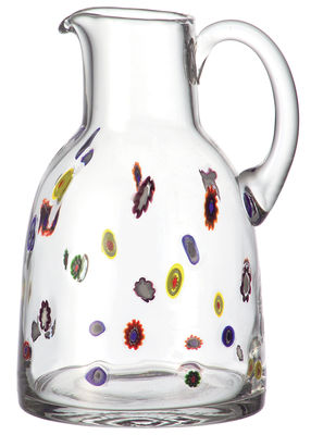 Tableware - Water Carafes & Wine Decanters - Millefiori Carafe by Leonardo - Floral pattern - Glass