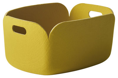 Accessori moda - Accessori ufficio - Cestino Restore - 100% riciclato di Muuto - Giallo - Feltro riciclato