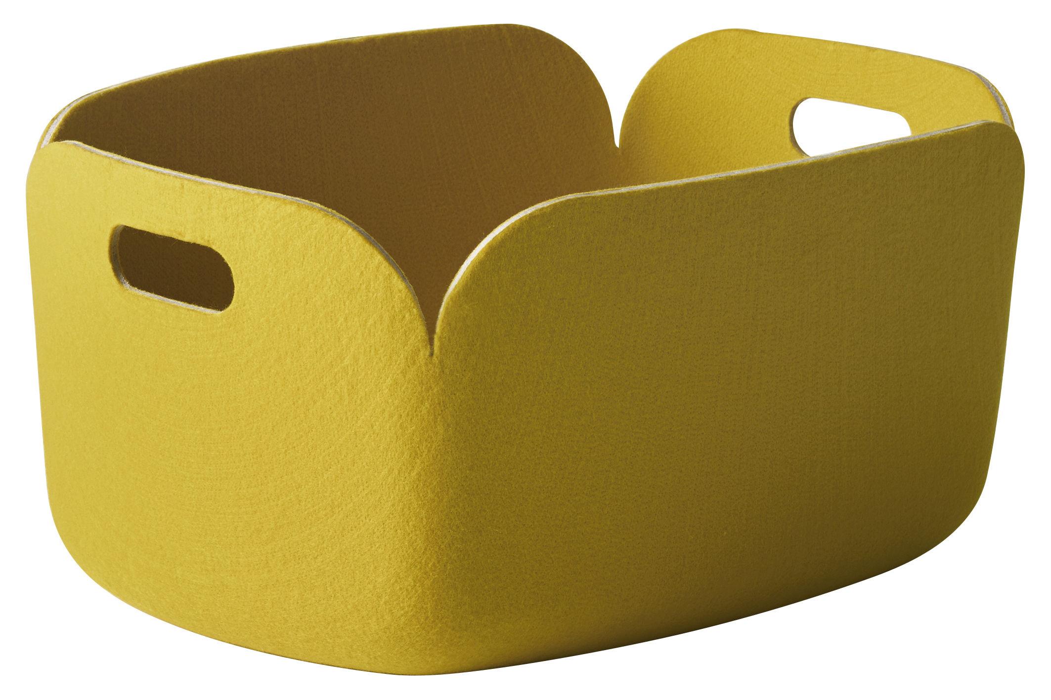Interni - Contenitori e Cesti - Cestino Restore - 100% riciclato di Muuto - Giallo - Feltro riciclato