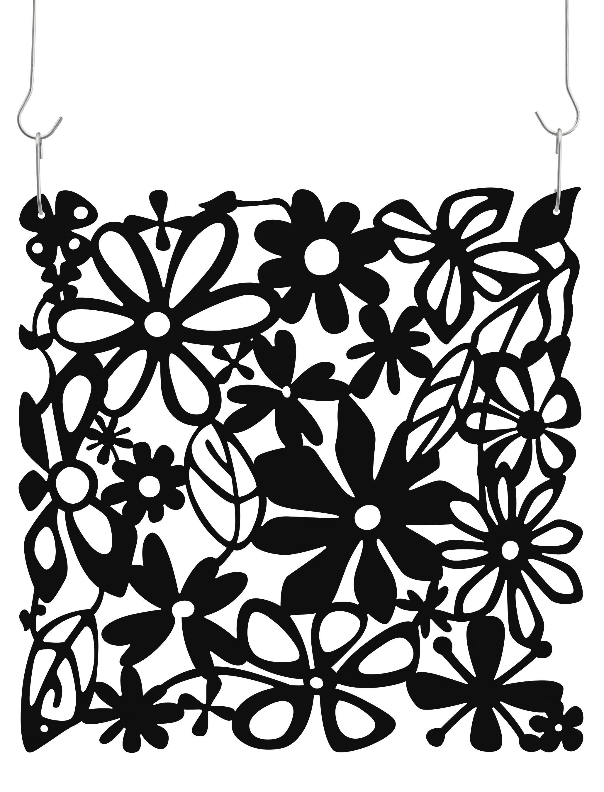 Mobilier - Paravents, séparations - Cloison Alice / Set de 4 - Crochets inclus - Koziol - Noir opaque - Polycarbonate