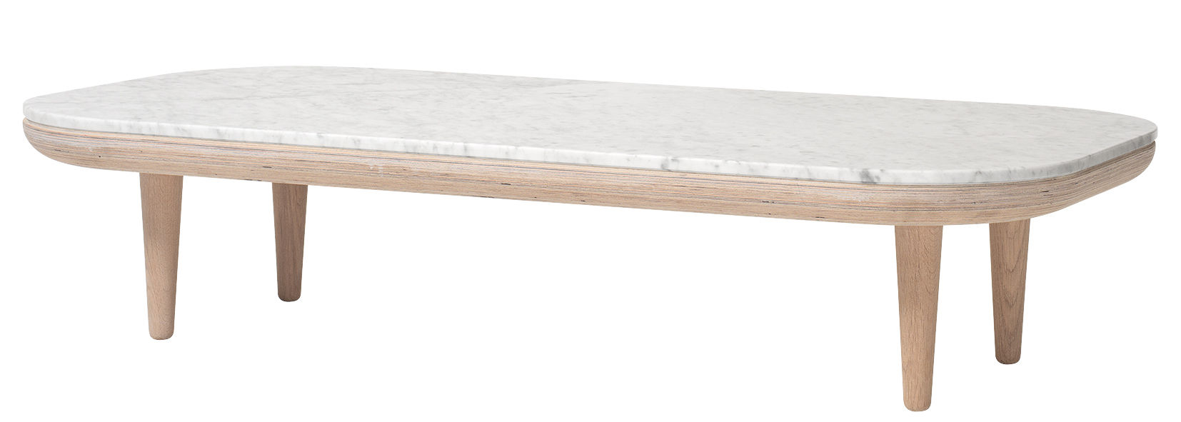 Furniture - Coffee Tables - FLY Coffee table by &tradition - White oak / White marble - Bleached oak, Carrare marble