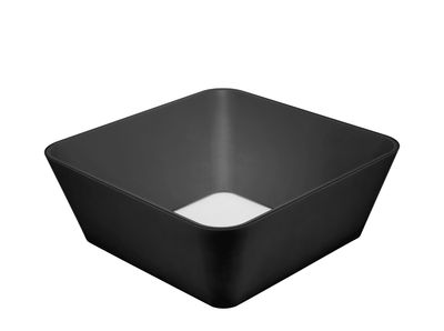 Furniture - Coffee Tables - Zero-In Coffee table - / 90 x 90 cm by Established & Sons - Black / Transparent glass - Polyester, Soak glass