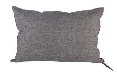 Coussin Vice Versa / 30 x 50 cm - Lin - Maison de Vacances gris ardoise en tissu