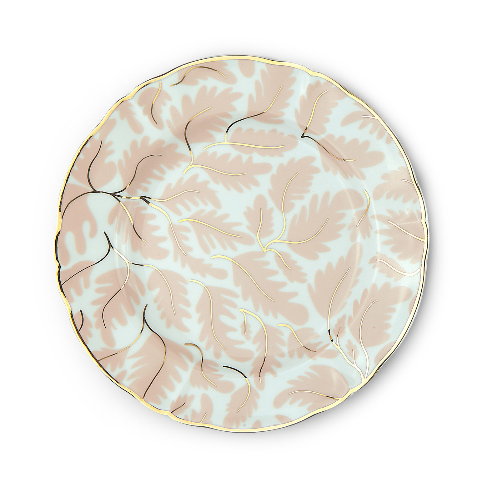 Tableware - Plates - Selva Dessert plate - / Ø 20.5 cm by Bitossi Home - Floral - China