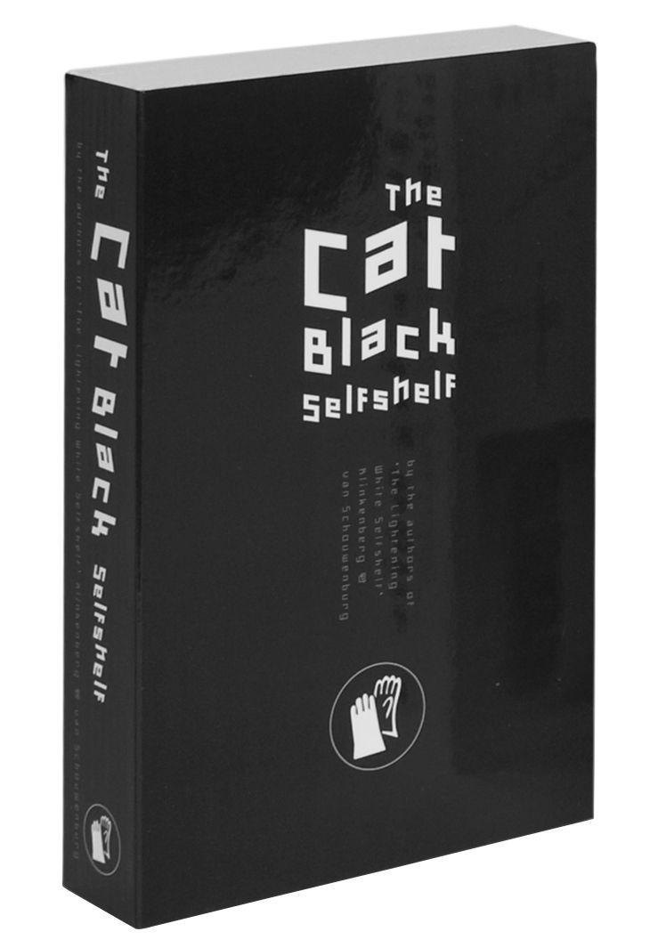 Mobilier - Etagères & bibliothèques - Etagère Self Shelf Pocket – Cat black / Trompe-l'œil - Zho - Pop Corn - Noir - Bois peint