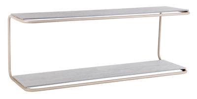 Etagère Yoso / Ciment - L 110 cm - XL Boom gris,quartz en métal