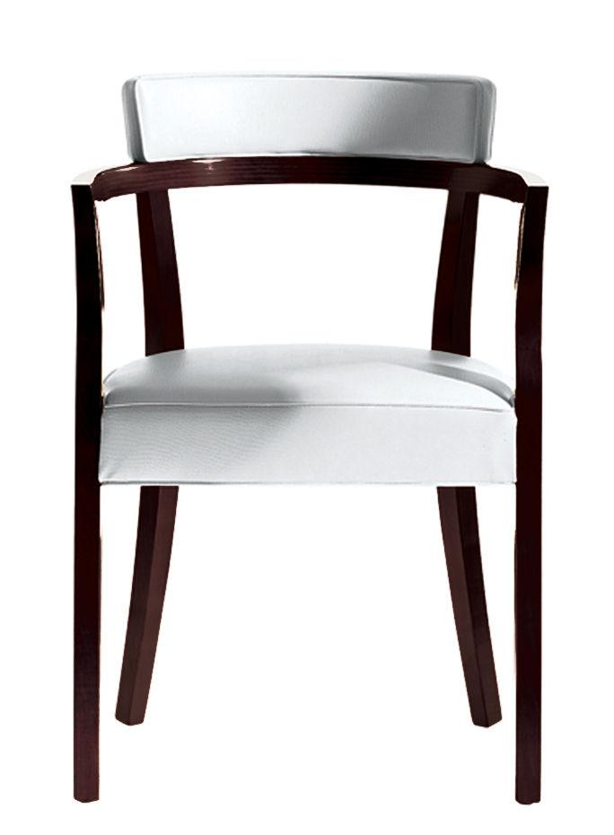 Mobilier - Chaises, fauteuils de salle à manger - Fauteuil rembourré Neoz / Acajou & tissu - Driade - Ebène - Acajou, Tissu