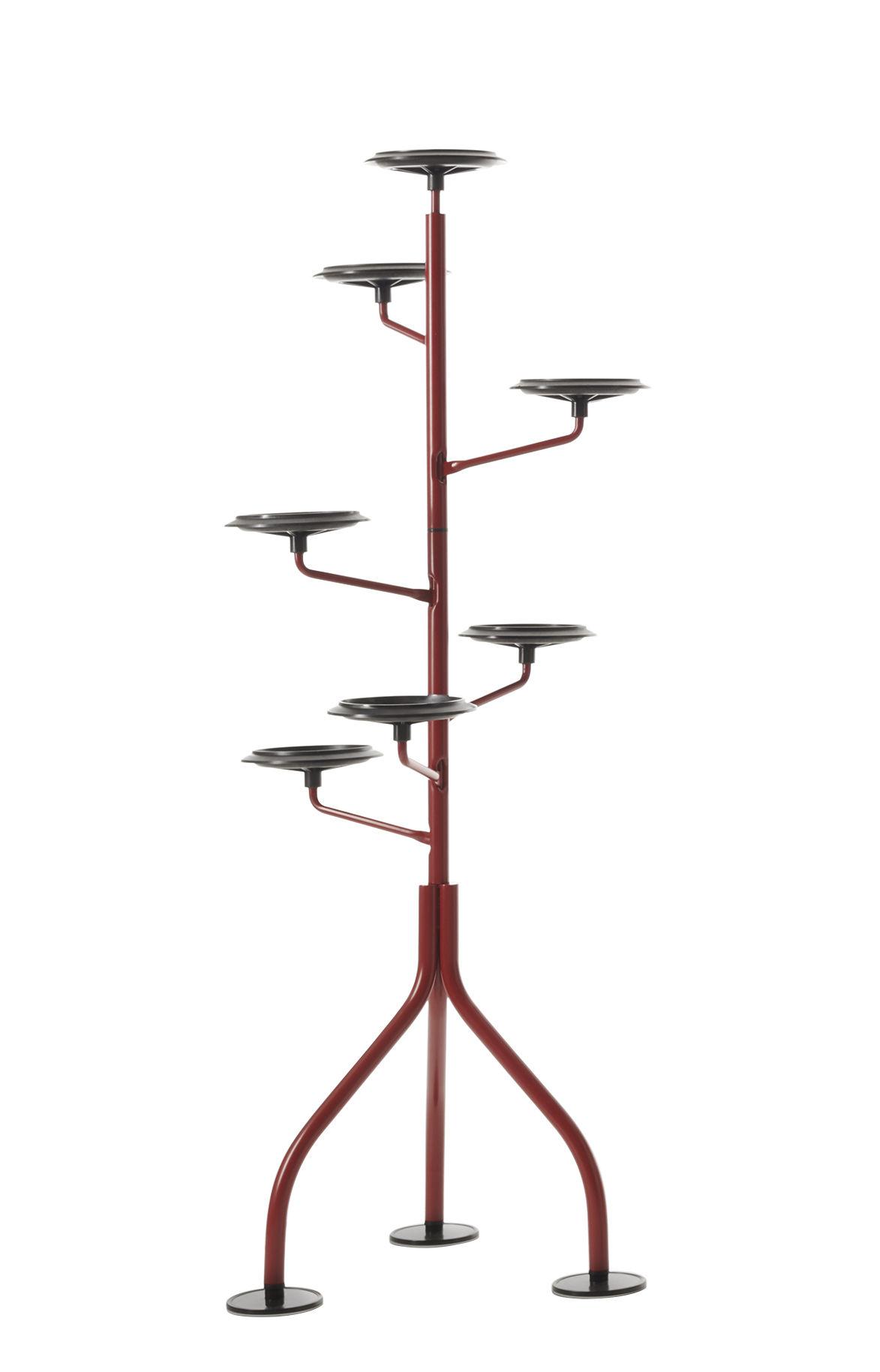 Dekoration - Töpfe und Pflanzen - Albero Halterung für Blumentopf / H 152 cm - für 7 Blumentöpfe - Zanotta - Amarant - gefirnister Stahl, Polyamid