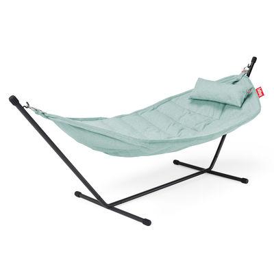 Outdoor - Sun Loungers & Hammocks - Headdemock Superbe Hammock - / Olefin fabric - With cushion by Fatboy - Sea foam - Olefin fabric