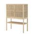 Sanna High dresser - / L 90 x H 120 cm - Rattan canework by Bloomingville