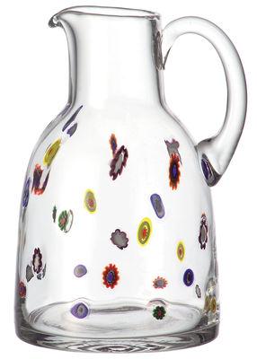 Tischkultur - Karaffen - Millefiori Karaffe - Leonardo - Transparent - Glas