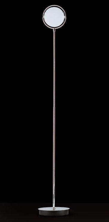 Illuminazione - Lampade da terra - Lampada a stelo Nobi di Fontana Arte - H 190 cm - Nichelato satinato - Metallo nichelato satinato, Vetro