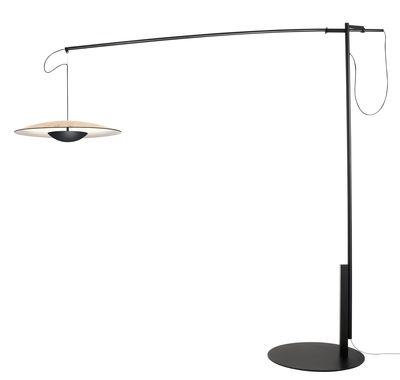 Lampadaire Ginger XL / LED - Marset noir,chêne en métal