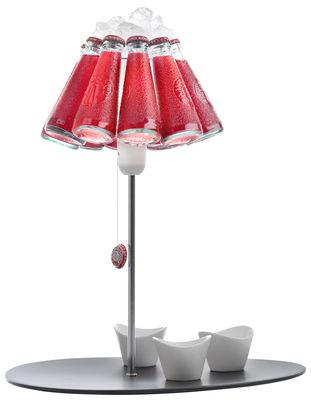 Luminaire - Lampes de table - Lampe de table Campari Bar / H 50 cm - Ingo Maurer - Rouge, noir, acier - Métal, Plastique, Porcelaine, Verre