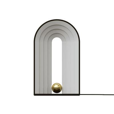Luminaire - Lampes de table - Lampe de table Castellum LED - AYTM - Noir & blanc - Acier, Plastique