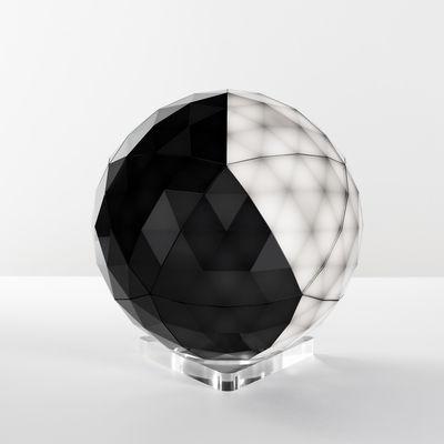 Lampe de table Huara LED / Ø 40 cm - Surface tactile / Bluetooth - Artemide noir/transparent en matière plastique