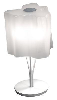 Lampe de table Logico Mini H 44 cm - Artemide blanc en métal/verre
