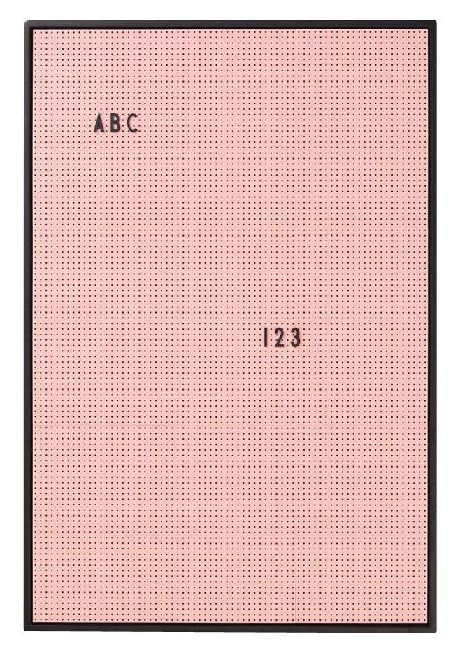 Interni - Promemoria, Calendari & Lavagne - Lavagnetta luminosa A2 - / L 42 x H 59 cm di Design Letters - Rosa - ABS, Alluminio