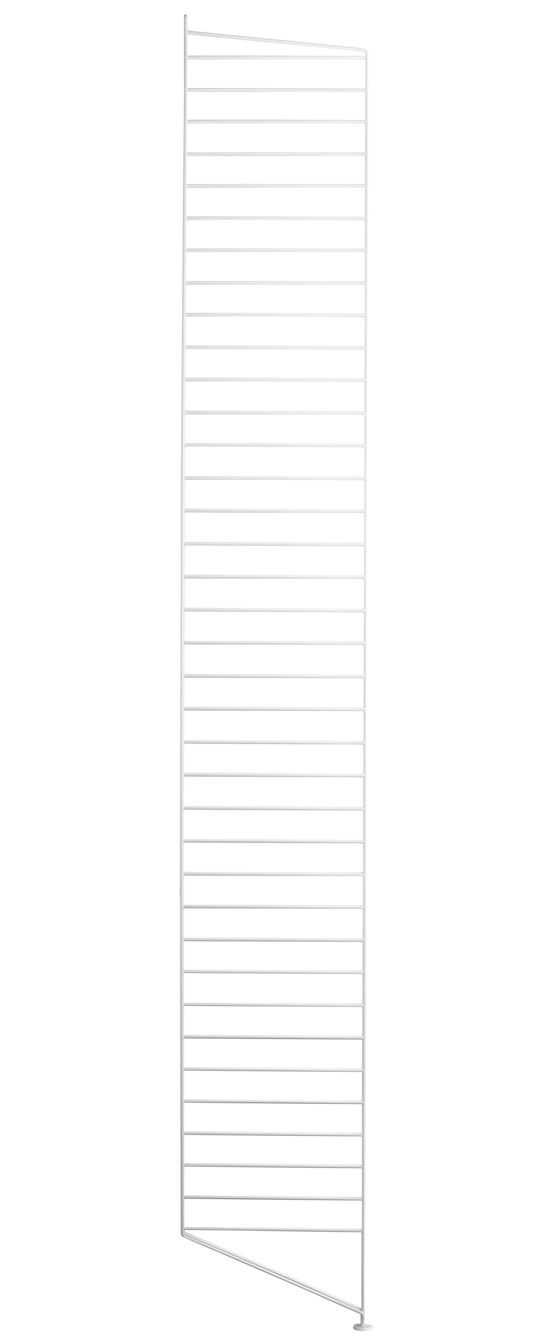 Arredamento - Scaffali e librerie - Montanti laterali String system di String Furniture - Montante supplementare ad unità / Bianco - Acciaio laccato