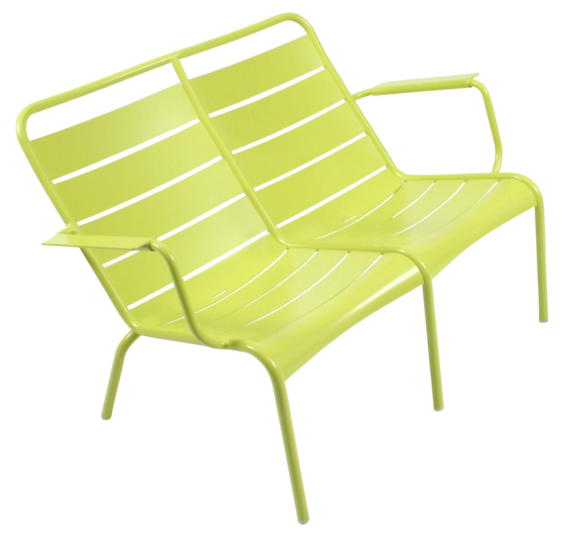 Life Style - Panca con schienale Luxembourg Duo - 2 posti di Fermob - Verbena - Alluminio