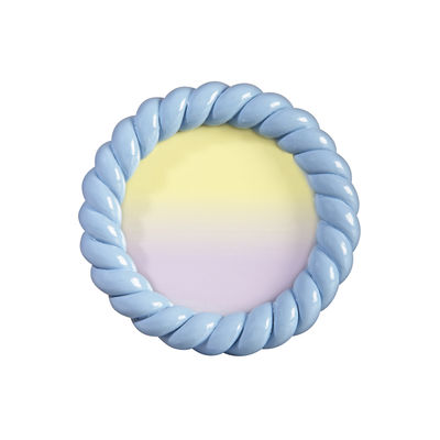 Decoration - Home Accessories - Braid Photo frame - / Round - Polyresin / Ø 13.5 cm by & klevering - Blue - Polyresin