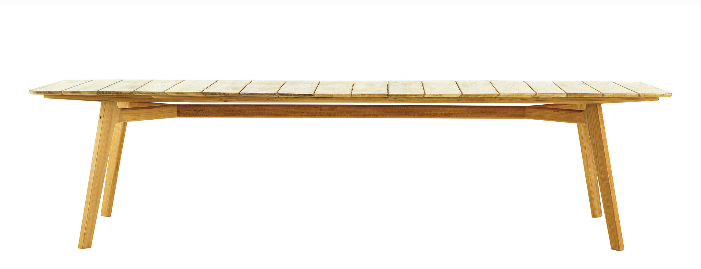 Outdoor - Tische - Knit rechteckiger Tisch / 263 x 110 cm - Teakholz - Ethimo - 263 x 110 cm / Teakholz - Teck massif naturel
