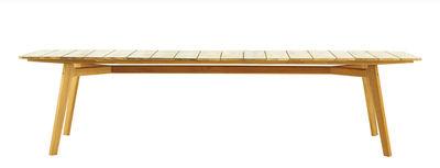Outdoor - Garden Tables - Knit Rectangular table - / 263 x 110 cm - Teak by Ethimo - 263 x 110 cm / Teak - Natural solid teak