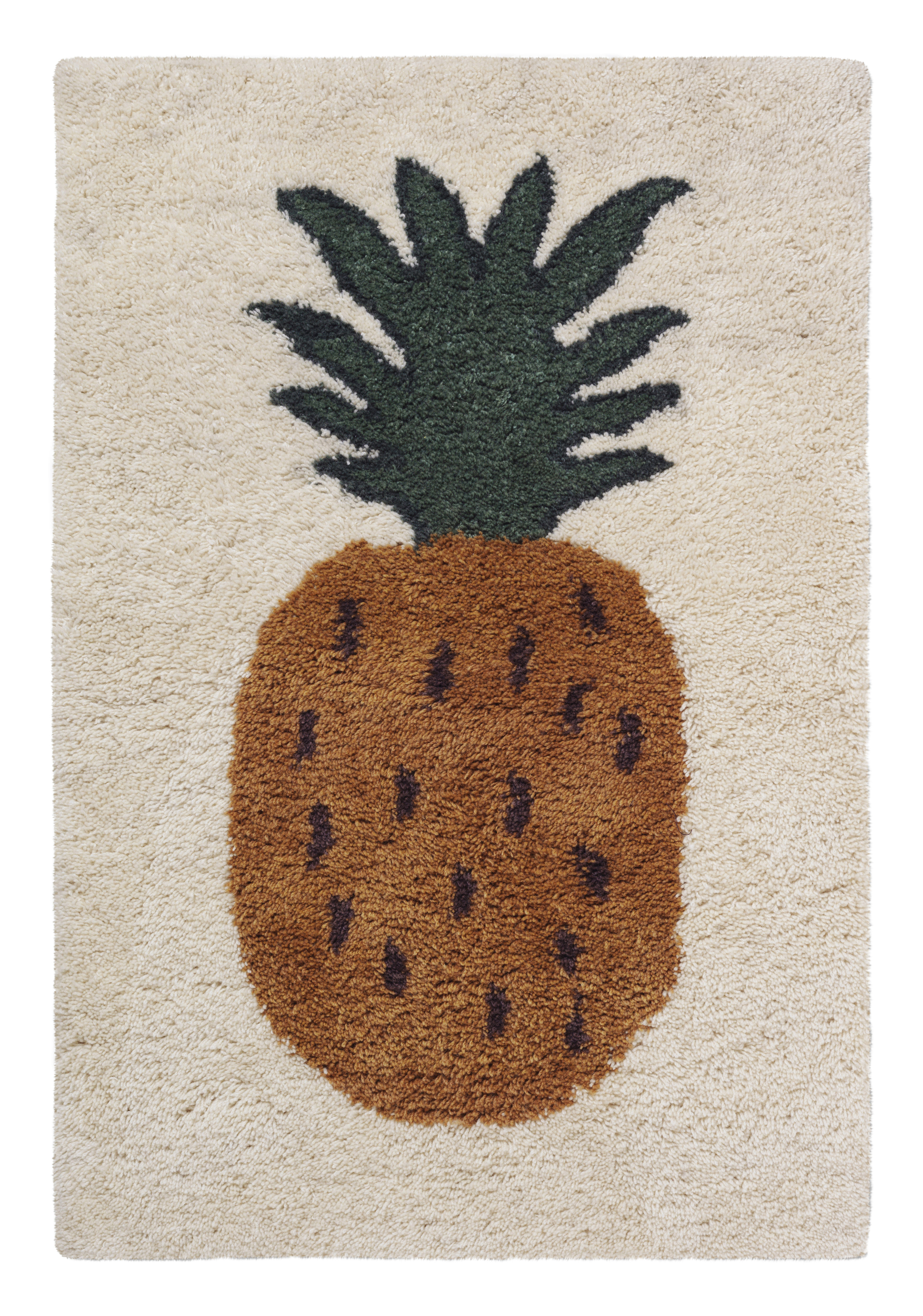 Furniture - Kids Furniture - Fruiticana - Ananas Rug - / Large - Tissé main by Ferm Living - Ananas - Cotton, Wool
