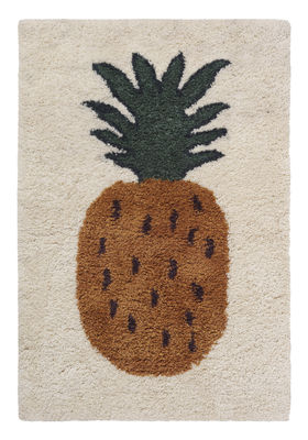 Furniture - Kids Furniture - Fruiticana - Ananas Rug - / Wide - Handwoven by Ferm Living - Pineapple - Cotton, Wool