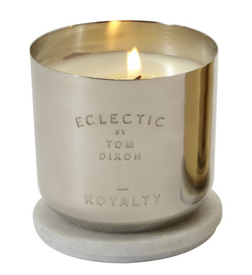Decoration - Candles & Candle Holders - Scent Royalty Scented candle by Tom Dixon - Royalty / Silver - Marble, Nickel