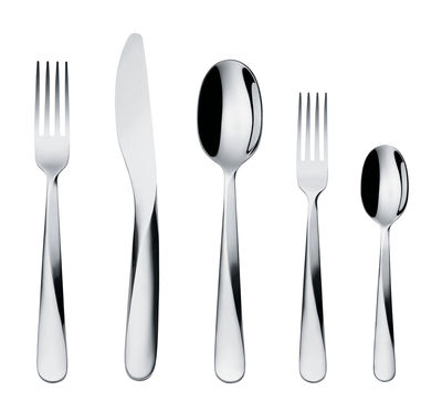 Arts de la table - Couverts - Set de couverts Giro / 5 pièces - 1 personne - Alessi - Acier - Acier inoxydable